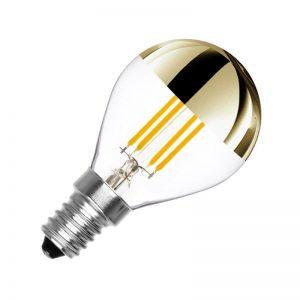 E14 4w 2200K G45 Led Filamento Topo Dourado Dimável PRTXX8 (220v)