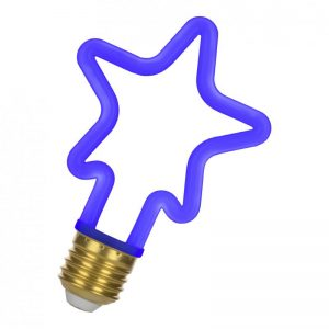 E27 4w LED Neon Star Azul GAV8