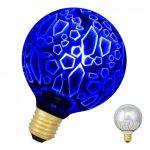 E27 4,5w G95 Shards Led Azul Dimável (220v)